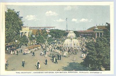 c1920 The Fountain Canadian National Exhibition Grounds Toronto Canada Postcard