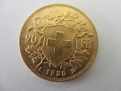20Fr. SWISS SOLID GOLD COIN 1935
