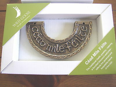 Cead  Mille Failte Wall Plaque, Wild Goose Studio, Ireland, boxed