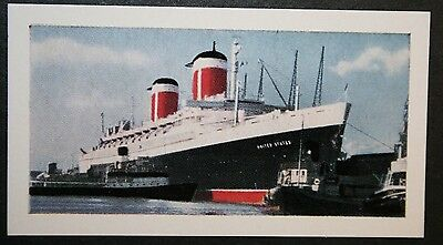 SS United States    United States Line         Illustrated Colour Card