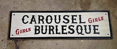 CAROUSEL BURLESQUE Jack Ruby night strip club wood bar sign Dallas JFK Oswald
