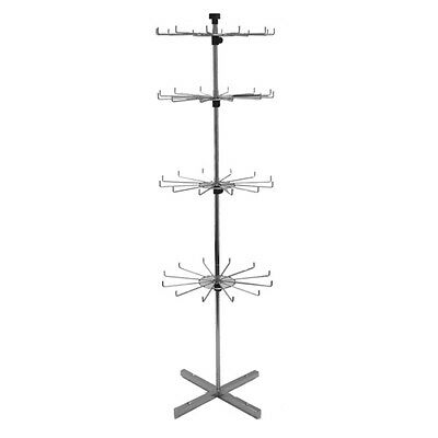 "Store Display Fixtures NEW 63"" TALL FLOOR MODEL SPINNER RACK WITH PEGS 4 LEVELS"