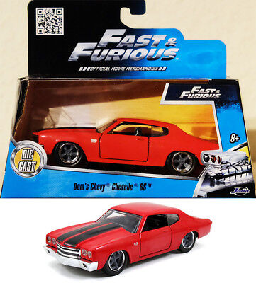 1970 Chevrolet Chevelle SS Fast & Furious Dom Chevy 1:32 Jada Toys 97380