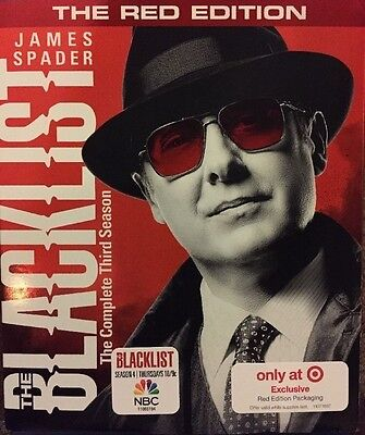 The Blacklist: The Complete Third 3rd 3 Season DVD 2016 Target Red Edition NEW