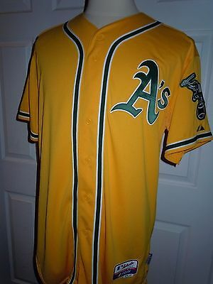 COCO CRISP #4 - Oakland Athletics Authentic Majestic Cool Base Jersey (48) Gold