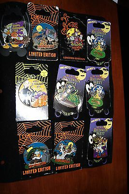 New On Card Disney Lot Halloween Party 3D Pins Limited Edition Goofy Stitch Etc