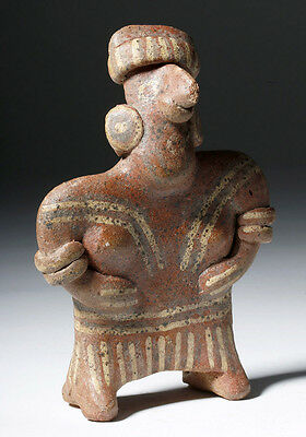 ARTEMIS GALLERY Attractive Nayarit Polychrome Pottery Standing Female