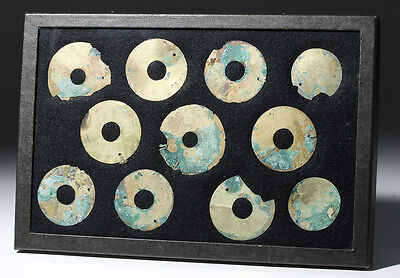 ARTEMIS GALLERY Group of 11 Moche Gold Tumbaga Discs