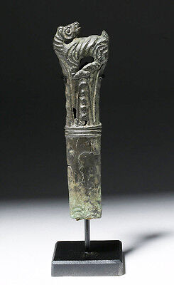 ARTEMIS GALLERY Russian Perm Animal Style Bronze Knife Handle - 10th C.