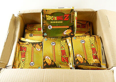 Lot of (12) 1999 Bird Studio Dragon Ball Z Gold Series Card Boxes (some damage)
