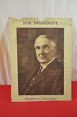 1920 Warren Harding President Poster Election Campaign 1344