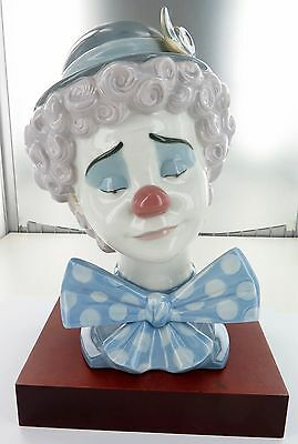 Rare / Large / Stunning Lladro Clown Bust. 5611, Retired 1997. Super Condition.