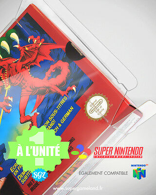 1 BOITIER PROTECTION PROTECTIVE CASE SUPER NINTENDO SNES N64 0,4 mm NEUF