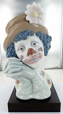 Rare / Huge / Stunning Lladro Clown Bust. 5542, Retired. Super Condition.