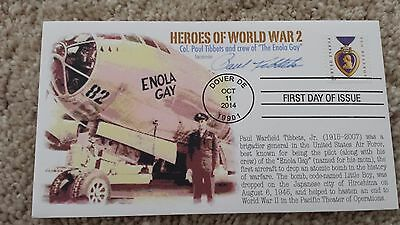 Enola Gay Paul Tibbets Atomic Bomb Autograph Signed Wwii First Day Cover Fdc