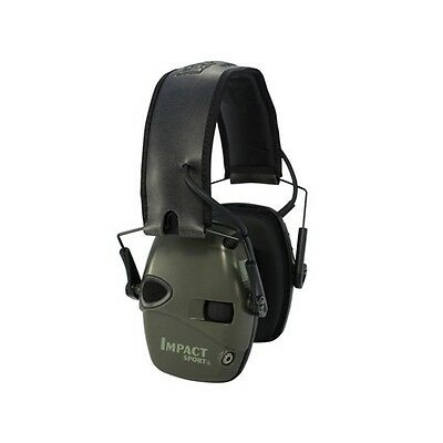Howard Leight R-01526 Impact Sport Electric Earmuff Olive Drab Green Retail Pack