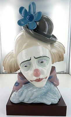 Rare / Huge / Stunning Lladro Clown Bust. 5130, Retired. Super Condition.