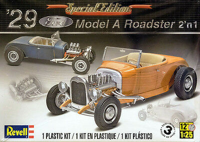 1929 Ford Model A Roadster 2in1 1:25 Model Kit Bausatz Revell 4322