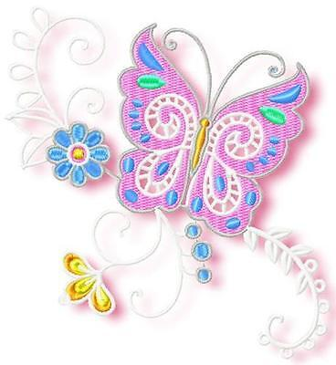 Butterfly Corners Soft 10  Machine Embroidery Designs 4 Sizes