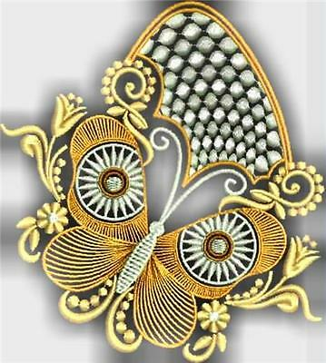 Decorative Butterflies 12 Machine Embroidery Designs 2 Sizes
