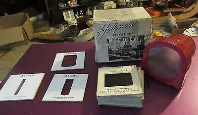 Vntg Red Hollywood Professional Viewer Craftsmens Guild 12 Nude Slides Dona Rita