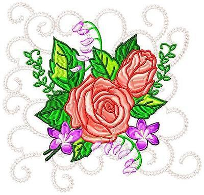 Roses Blocks 10 Machine Embroidery Designs 3 Sizes Included