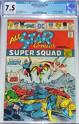 All-Star Comics #58 CGC graded 7.5 (1976) Super Squad. 1st Power Girl appearance