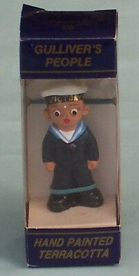 Gulliver's People Hand Painted Terracotta Victory Figurine Sailor Dorset England