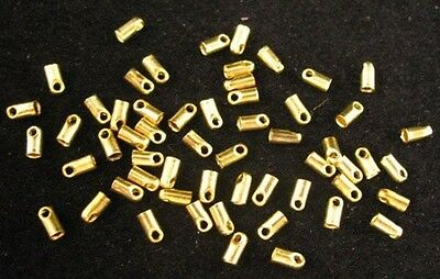 300pcs Brass End Cap for 1mm leather cord E598