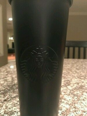 Starbucks 2016 Matte Black Stainless Steel Cold Cup 24oz New W/Gift Box