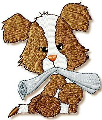 Puppies 10 Machine Embroidery Designs 2 Sizes Included