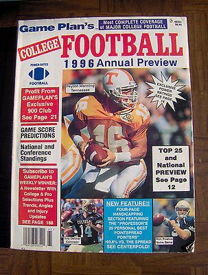 Game Plans College Football 96 Annual Preview Peyton Manning Tennessee