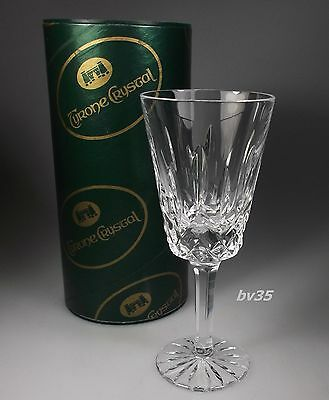 "Tyrone Crystal Rosses Wine Goblet  5 3/4"" - Perfect In Box"