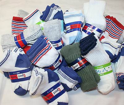 Big Wholesale Lot 120 Pairs Baby Toddler BOY Socks Sizes 0-6 6-12 12-24 MONTHS