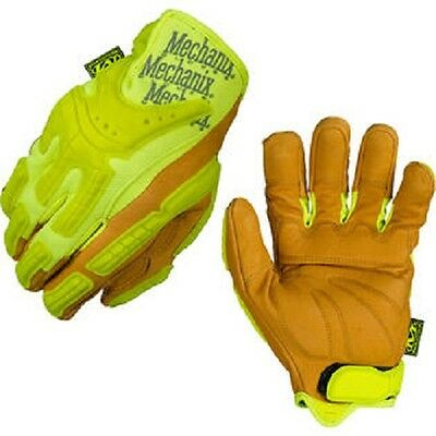 Mechanix Wear CG40-91-010 Men's Yellow Commercial Hi-Viz Heavy Duty Gloves - L