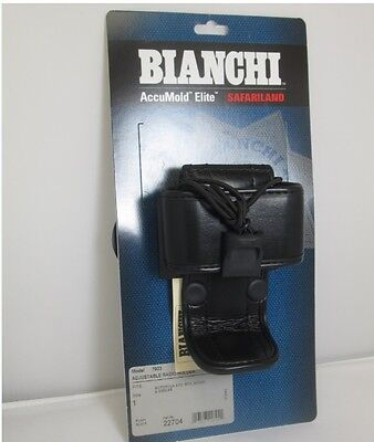 Bianchi 22704 AccuMold Elite 7923 Adjustable Plain Black Radio Holder - Size 1