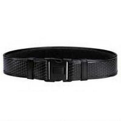 Bianchi 22127 Black Basketweave AccuMold Elite Duty Leather Belt Size L 40-46""