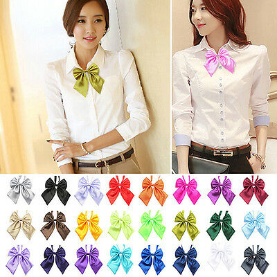 New Women Girl's Party Banquet Solid Stain Knot Cravat Bow Tie Necktie Goodish
