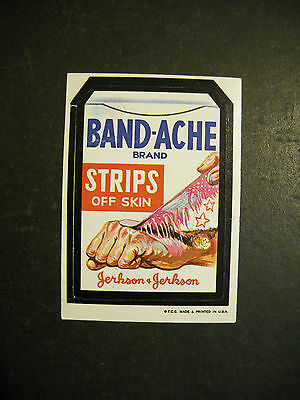 1973 Wacky Packages Sticker Band-Ache Topps