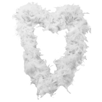 White 65 Gram Feather Boa Fancy Dress Accessory Hen Night Party Gangster Flapper