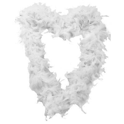 White Feather Boa Fancy Dress Accessory Hen Night Party 1920S Gangster Flapper