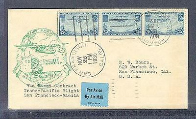 C20 CHINA CLIPPER Airmail First Day of Issue+ FIRST Contract Trans-Pacific Fligh