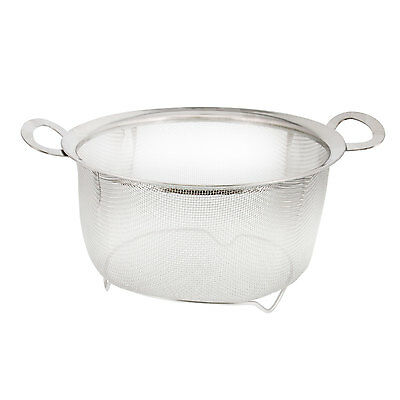 U.S. Kitchen Supply Stainless Steel 3 Quart Mesh Net Strainer Basket w/ Handles