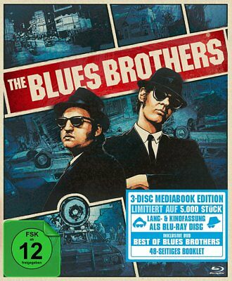 The Blues Brothers - Extended Deluxe Mediabook # 2-BLU-RAY-NEU