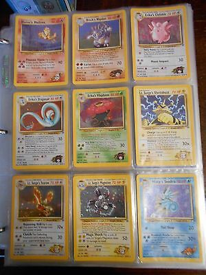 Gym Heroes Holo  Rare Inc Moltres Pokemon Cards You Pick Nr Mt - Mint