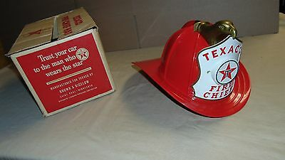 1960S Texaco Fire Chief Hat Helmet With Microphone In Original Box