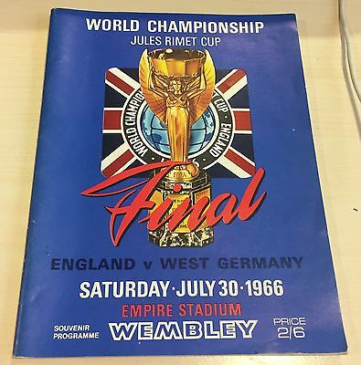 Original 1966 World Cup Final Programme England V West Germany