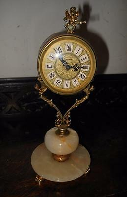 onyx ladies boudoir clock vintage