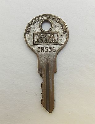 Vintage KEY For Lock, Padlock, Cabinet, Trunk, YALE JUNIOR Number CR536