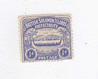 Soloman Islands # 1 Fvf-Mlh Cat Value $11+